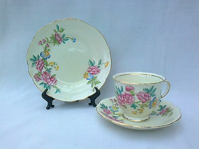 Vintage Foley China Floral Trio Cup & Saucer & Plate