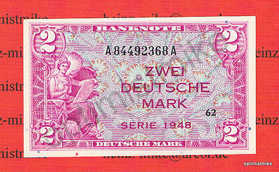 2 DM 1948 UNC Kassenfrisch Ros.234 Pick 3a Germany Deutsche Mark