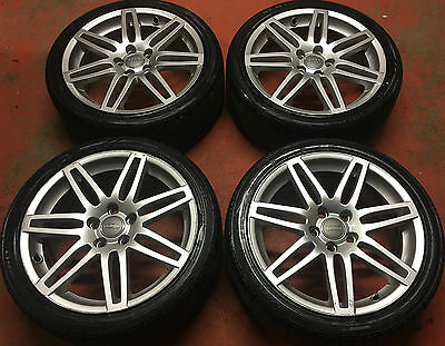 """18"""" Genuine Audi A3 Sport S Line Rs4 Black Edition Alloy Wheels Tyres New Model"""