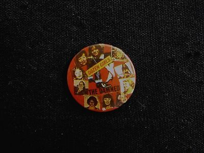 The Damned Vintage Badge Button Pin Uk Made