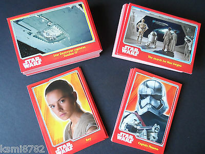 TOPPS STAR WARS THE FORCE AWAKENS base set 160 cards 1-160.