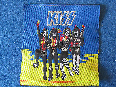 Sew on Patch - KISS - Blue & Yellow Background