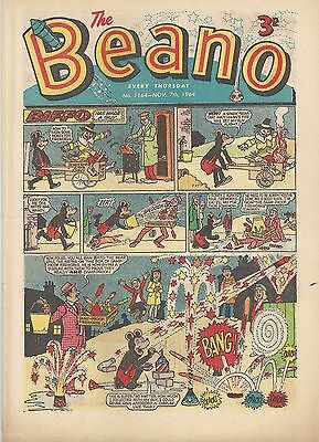 Beano Comic #1164 7th November 1964 FIREWORKS - GREAT COVER Very Fine Rare Dandy