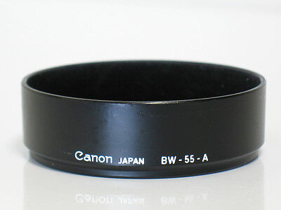 Canon FD lens hood BW-55-A For 35mm f2 Breech Lock - Clean, Excellent Condition