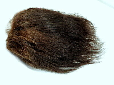 "Troll Doll Wig Replacement Dam Iggy Mohair Large 4 x 4"" Dark Brown Undyed"