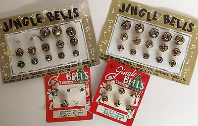 36 Vintage Jingle Bells Silver Gold Walco Criterion Crafts Christmas Decor Japan