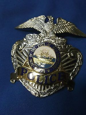 (New Hampshire Nh) Dover Police (Sun Badge) Hat Badge #73 Sheriff Co