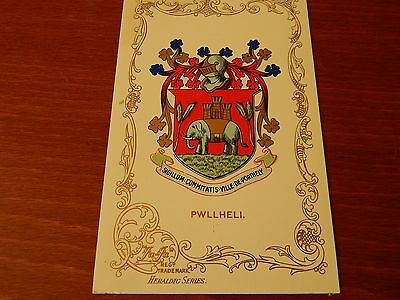 Pwllheli Coat Of Arms Ja Ja Heraldic Series Postcard Wales