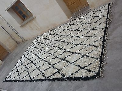 Large new handmade beni ourain moroccan  rug 4.6m x 3m 460cm x 300cm 9' × 15'