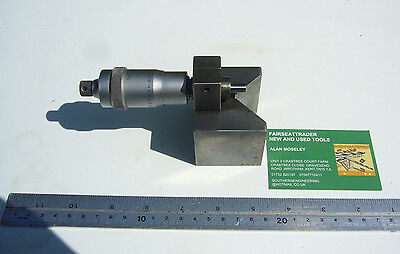 Vintage 'shardlow' Micrometer With Ground  'v' Block Mounting          2100