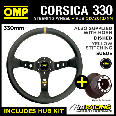 VW GOLF MK3 with A-BAG 91- OMP CORSICA 330 SUEDE LEATHER STEERING WHEEL & HUB