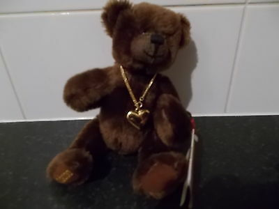 Hermann D 96112 Brown Teddy With Love Chain Genuine Mohair Limited 336/2000