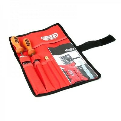 """Oregon 3/16"""" 4.8mm Quality Chainsaw Chain Filing Sharpening Kit Tool Roll Pouch"""