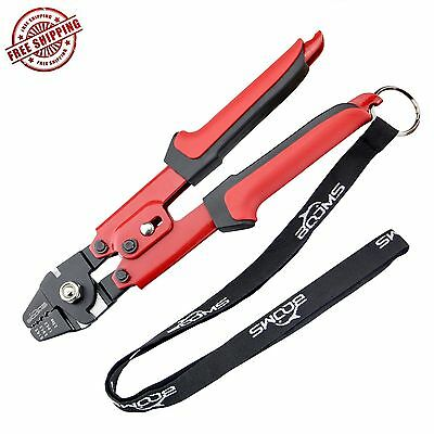 Booms Fishing Heavy-Duty Hand Crimper has Hardened Steel Jaws with 4 Crimping Po
