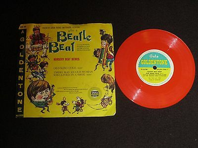 "Dance And Sing Mother Goose With A Beatle Beat 6"" Red Vinyl - 1964 Gg49"