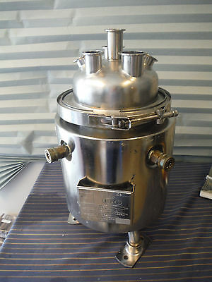 """6-7 Liter 1.5-2 Gallon Stainless Steel Jacketed Reactor Vessel Tri-Clamp 1"""" 2"""""""