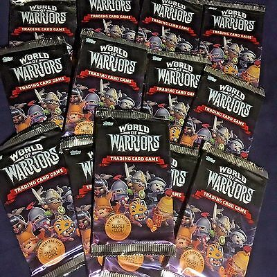 50 x Packs World Of Warriors Trading Cards Topps New Unopened