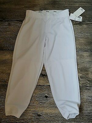 NEW Intensity White Softball Fastpitch Women's Size S pants Soffe NWT