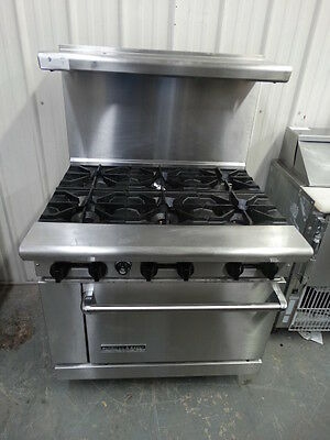 AMERICAN RANGE STOVE 36in 6 BURNERS COMMERCIAL NATURAL GAS WITH OVEN AR-6