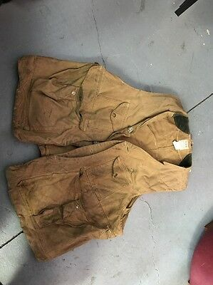 Filson Oil Tin Cloth Hunting Vest, Size XL Style 32 Used