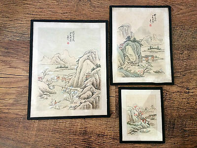 Old Japanese Silk Paintings