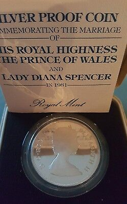 Royal Highness The Prince Of Wales And Lady Diana Spencer Silver Proof Coin 1981