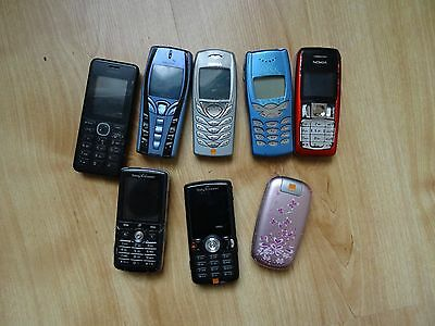 Joblot of 8x Mobile Phones For Spares or Repairs