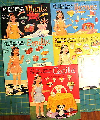 Let's Play House with Dionne Quints Paper Doll - Uncut, Series of 5 Dolls
