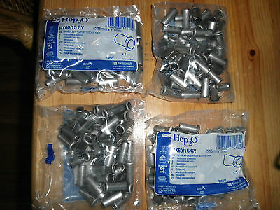 hep2o hep20 stainless steel 15mm inserts 4 unopened bags of 50 total 200 inserts