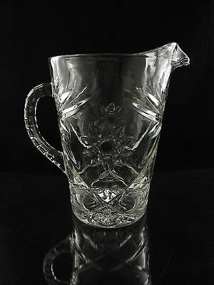 Anchor Hocking Early American Prescut Pitcher, Star of David, 54 Ounce Variation