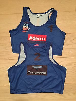NUOVO Coppia Blu Top beach volley kit Donna