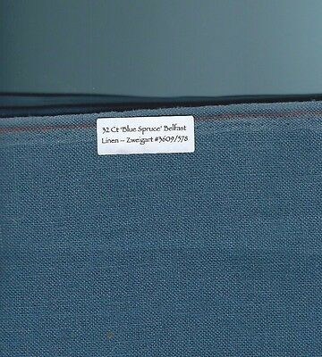 "32 Count ""Blue Spruce"" Belfast Linen Zweigart #3609/578, 19"" x 13.5"" continuous"