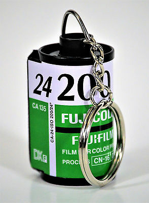 Fuji Keychain Made From Recycled 35 Mm Film Canisters, Fujicolor 200