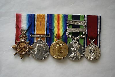 1914-15 trio & 2 bar IGS 1908 with Jubilee Medal to 13th Lancers, nice group
