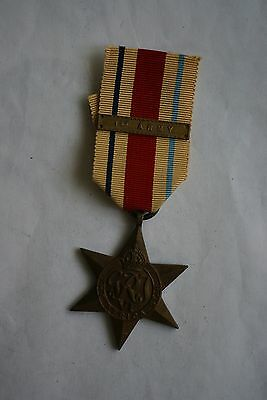 WWII Africa Star with scarce original 1st Army bar, British campaign medal