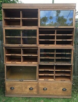 1920's oak haberdashery Gieves and Hawke shop cabinet office kitchen apothecary