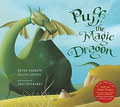 Puff the Magic Dragon Book and CD Pack by Peter Yarrow Paperback Book New