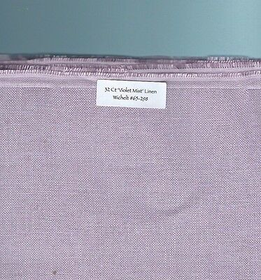 "32 Count ""Violet Mist' Linen Wichelt #65-298 RETIRED, Choice of FE or smaller"
