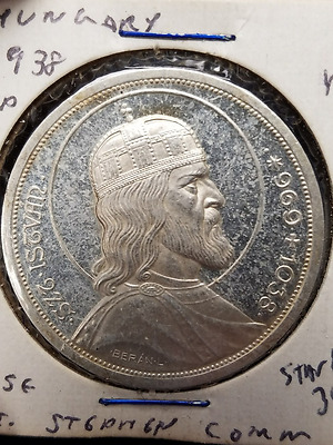 1938 Hungary 5 Pengo Silver Commemorative