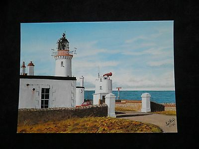 Scottish Lighthouse Museum Postcard Dunnet Head from watercolour by Ian H. Boyd