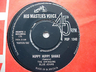 "Swinging Blue Jeans ~ Hippy Hippy Shake/now I Must Go ~ 7"" Vinyl Single 1963, Uk"