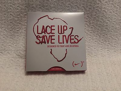 Collectable New Nike Lace Up 2Save Lives Red Laces 90cm In Box & NBA Cheer Stix
