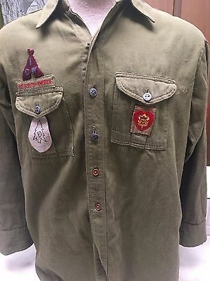 Vintage New York Boy Scout Uniform Shirt, Camp Wauwepex, Buckskin Lodge, etc.