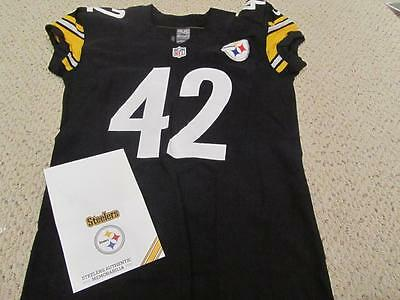 Authentic 2014 Nike Game Used Pittsburgh Steelers Jersey Jordan Sullen wCOA #42