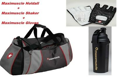 MaxiMuscle Gym Holdall Travel Sports bag  Designer size 60L Maxi Gloves Shaker