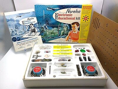 VINTAGE NORELCO ALL TRANSISTOR ELECTRONIC EDUCATIONAL KIT 1960s