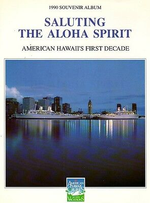 American Export Hawaii ss Independence Constitution Cruise Ocean Liner Pic Book