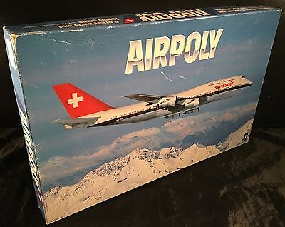 VINTAGE 1987 AIRPOLY BOARD GAME - SWISSAIR COMPLETE never played monopoly style