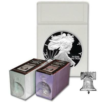 25 BCW Mexico 1oz Libertad Coin Holder Display Slab INSERTS 40.6mm White Foam