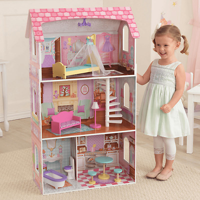 NEW KidKraft Penelope Dollhouse 9pc Furniture Pretend Play Girls suits Barbies